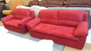 Klasszikusan elegáns piros színű ülőgarnitúra