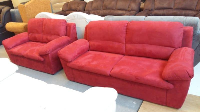 JANA 3 és 2 személyes piros színű ülőgarnitúra
