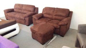 Barna színű, kényelmes ülőgarnitúra