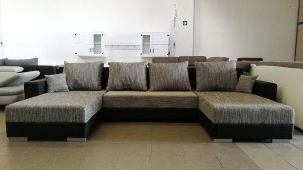 Modern letisztult vonalvezetésű U alakú kanapé