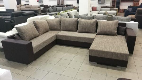 SIMEONE U alakú többféle színben elérhető kényelmes kanapé