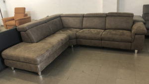 Lava L alakú kanapé antikolt hatású szövettel