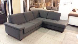 Elegáns kanapé, szürke azövettel