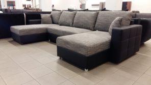 Modern, letisztult vonalvezetésű U alakú kanapé