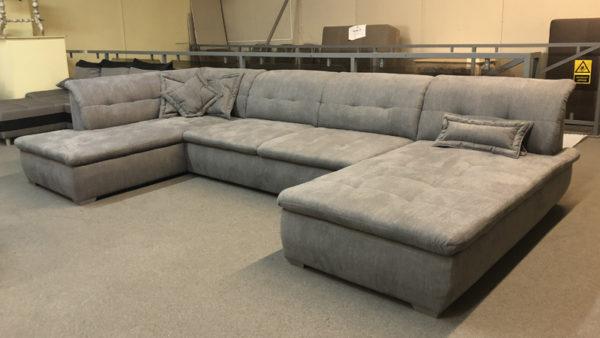 Farus steppelt felületű U alakú kanapé