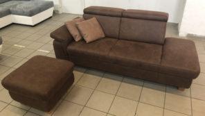 Lava kanapé és ajándék puff barna színben