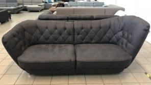 Retro Sofa klasszikus stílusban, fekete színben