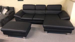 Driver L alakú kanapé valódi bőrből