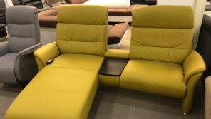 Morrison mustársárga kanapé, relax funkciókkal