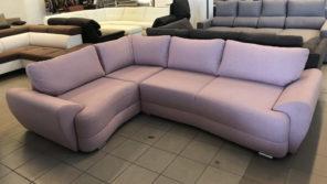 Benite L alakú design kanapé levendula színben