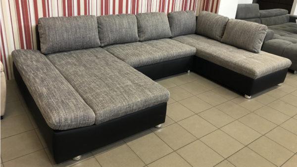 Fabona U alakú kanapé szürke zsákszövettel