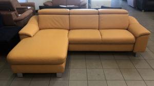 Lido System napsárga valódi bőrrel készült kanapé
