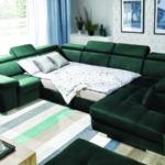 Rosso ágyazható U kanapé