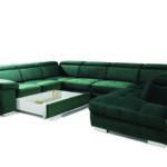 Rosso kihúzható ágyneműtartós U kanapé