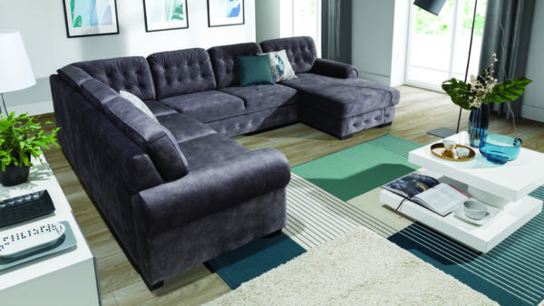Trapani mutatós U alakú kanapé